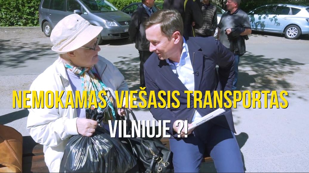 Nemokamas viešasis transportas Vilniuje?