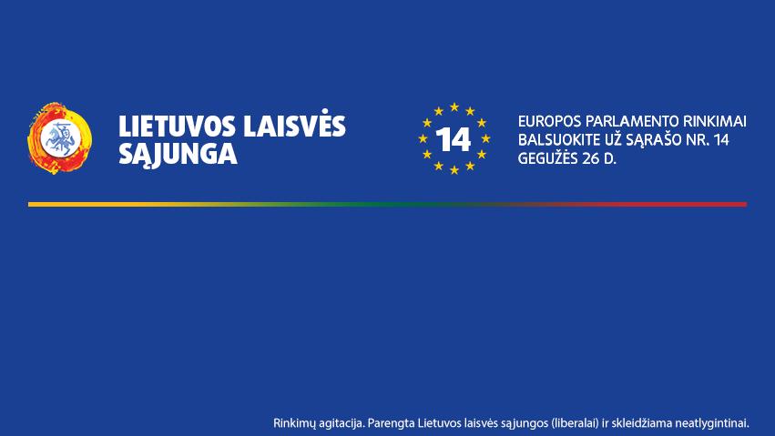 LLS dalyvauja 2019 m. gegužės 26 d. vyksiančiuose Europos parlamento rinkimuose