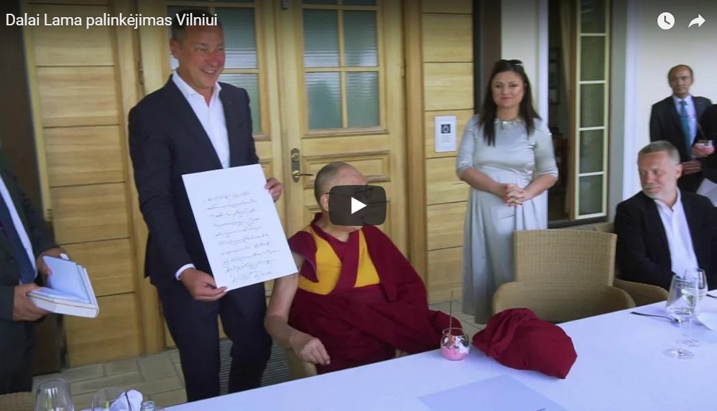 Dalai Lama palinkėjimas Vilniui